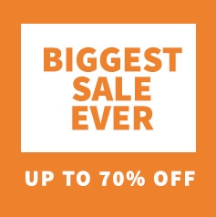 The biggest sale in 13 years – Up to 70% off