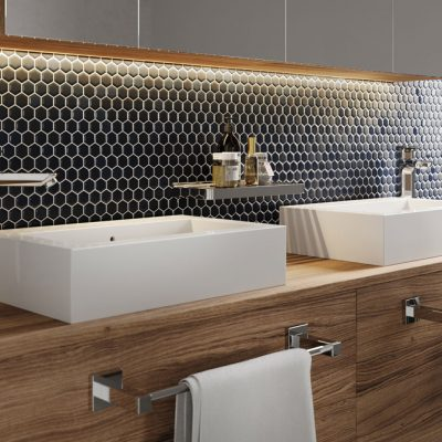 Liquidred Hexagonal Bathroom Tiles