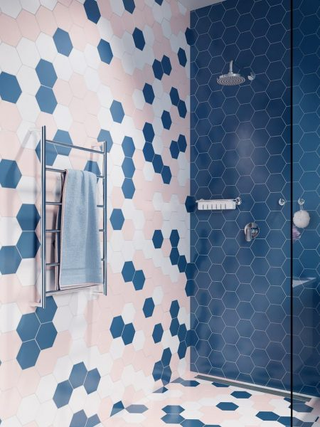 Liquidred Colourful Hexagonal Bathroom Tiles
