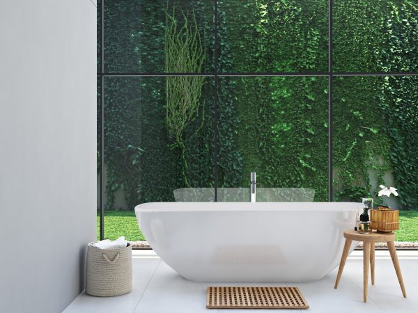 modern bathroom design with livingstone bath