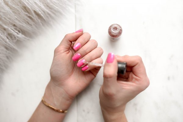 Spa day at home nail painting